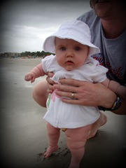 Feet in the sand for the first time
