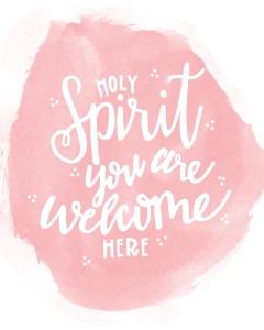 Holy Spirit whtie copy